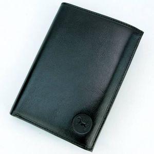 BMW deux volets Hommes Portefeuille noir en cuir véritable 3 carte de crédit titulaire /& 1 ID Fenêtre
