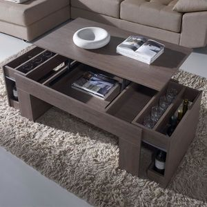 TABLE BASSE Table basse modulable couleur chêne ISERE 2