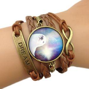 BRACELET - GOURMETTE Bracelet Infinity Loupe Cristal Phoque VoieLacté