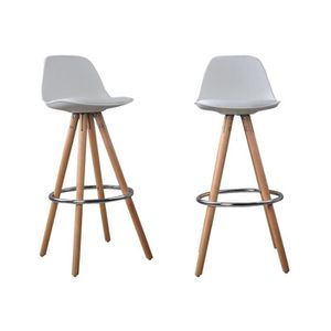 tabouret de bar blanc achat vente tabouret de bar blanc pas cher cdiscount. Black Bedroom Furniture Sets. Home Design Ideas