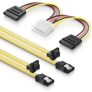 CÂBLE E-SATA deleyCON 2X 0,5m Câbles S-ATA 3 + Adaptateur Secte