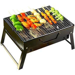 60 * 30 * 66 Jeffergarden Barbecue Barbecue Po/êle /À Charbon en Acier Inoxydable Pliable Portable Buffet en Plein Air Cuisine Outil De Cuisine
