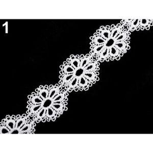 1 m de dentelle guipure col blanc 4 cm large top qualité haute couture !