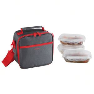 LUNCH BOX - BENTO  BE NOMAD SEP122R Set Sacoche Lunch box - Rouge