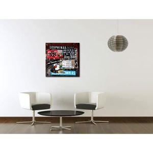 TABLEAU - TOILE Plexiglass plaque collages  50 x 50 cm