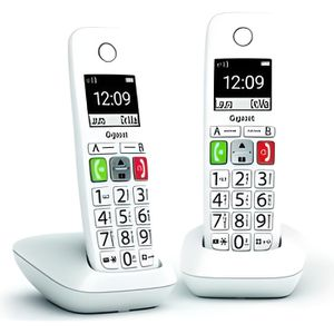 Téléphone fixe GIGASET E290 Duo Téléphone Fixe sans Fil Blanc, 2