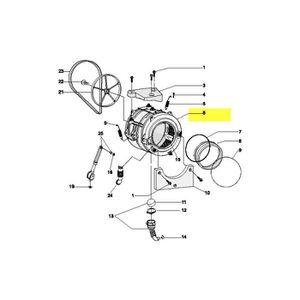 PIÈCE LAVAGE-SÉCHAGE  C00145181. CUVE ENSEMBLE PLASTIQUE 52 L H=20