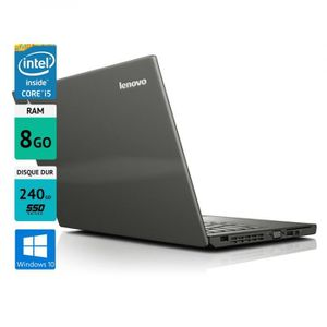 "Top achat PC Portable Pc portable Lenovo thinkpad X240 12,5"" 8GO SSD 240GO Windows 10 gris pas cher"