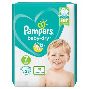 COUCHE Pampers - Pampers Couches baby-dry taille 7 Extra
