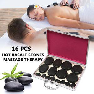 APPAREIL MASSAGE MANUEL TEMPSA Kit 16Pcs Appareil de massage pierres chauf