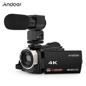 CAMÉSCOPE NUMÉRIQUE Andoer 4K 1080P 48MP WiFi Caméra Vidéo Numérique C