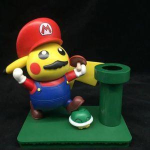 FIGURINE - PERSONNAGE Pokémon Figurine - pikachu Mario 16cm