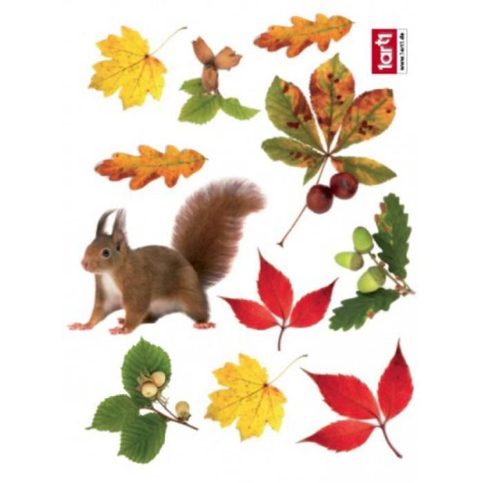 Automne sticker adh sif fen tres autocollant achat for Decoration adhesif fenetre