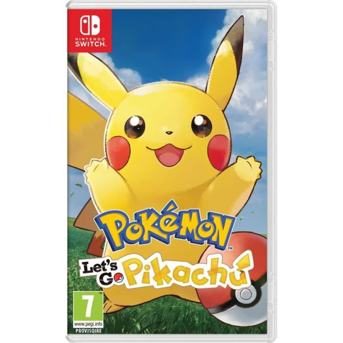 Calendrier Jeux Switch.Pokemon Let S Go Pikachu Jeu Switch Pokemon Go