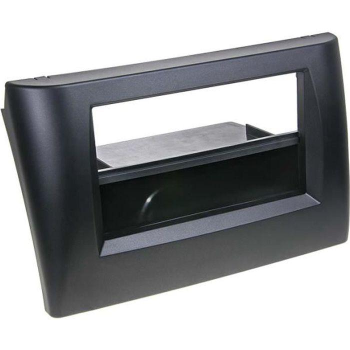 Adaptateur de façade 2-DIN avec vide poche Fiat Stilo noir