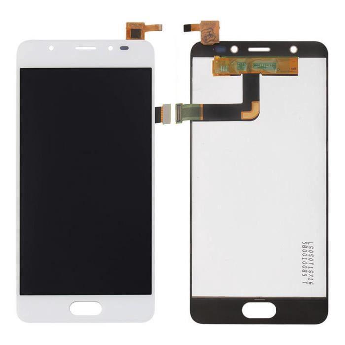 Vitre Tactile Ecran LCD Assemblé de Remplacement pour Wiko U Feel Prime (Blanc) avec Outiles