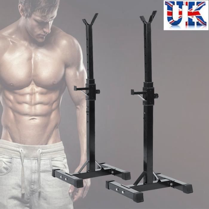 Réglable de Gym Squat Barbell Power Rack Standard Squat pour Barbell