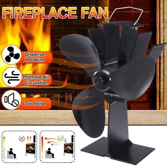 Ventilateur pour Poêle modèle 3 Lame Poêle Ventilateur Brûleur Ultra-silencieux alimenté par la chaleur