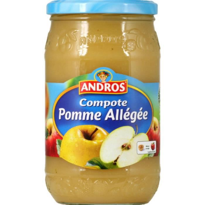 ANDROS Compote de pommes allégées en bocal - 990 g