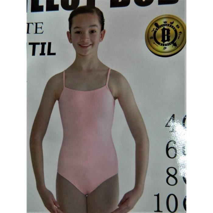 Justaucorps de danse rose fille danseuse bretelles taille 12 ans