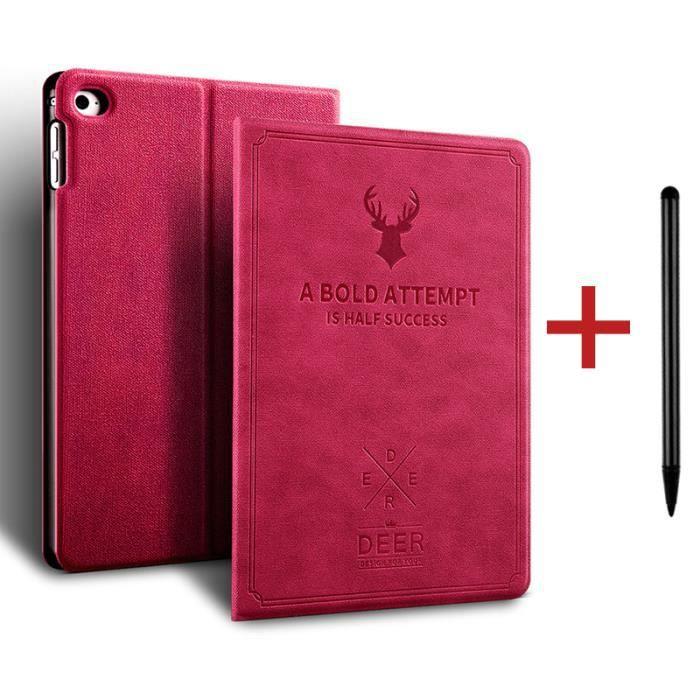 Coque iPad 8 10.2- 2020 [ +Stylet ] Cerf Réveil/Sommeil Automatique Case Housse Protection Étui iPad 8 10.2- 2020 -Rose