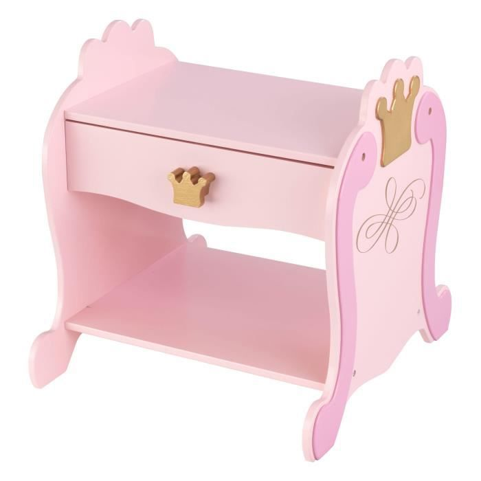 KIDKRAFT Table de chevet princesse - Rose