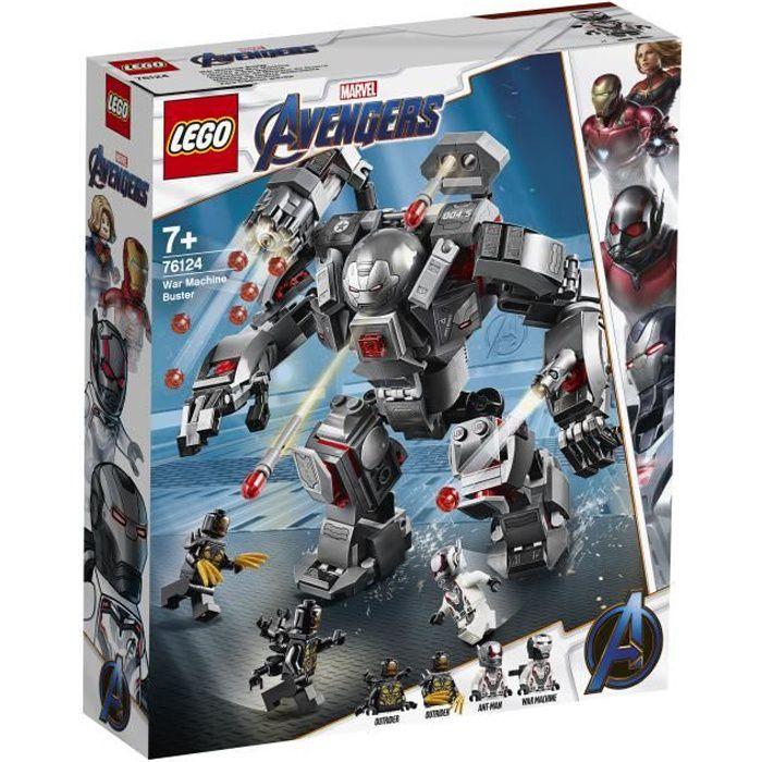 LEGO® Marvel Super Heroes 76124 - L'armure de War Machine - Avengers - Jeu de construction