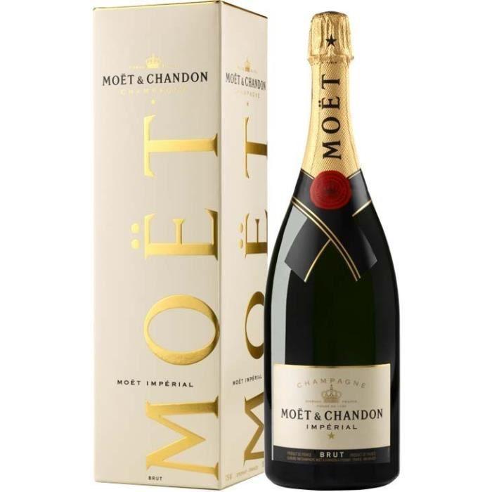 Champagne Moët & Chandon Brut Impérial avec étui - Magnum 1,5 L