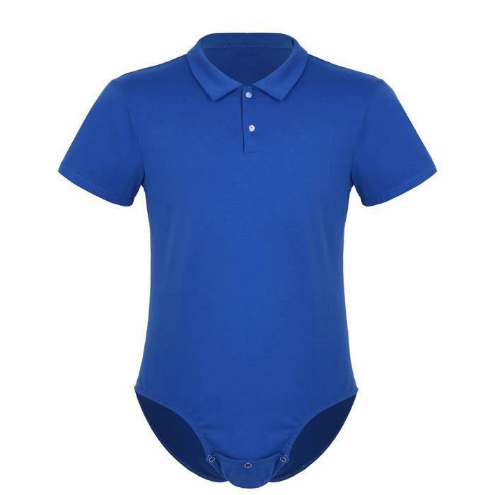 Homme Maillots de Corps Déguisement Tuxedo Body Salopette Chemise T-Shirt à Manche Courte Combinaison de Sport Barboteuse M-XXL