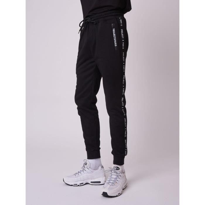 PROJECT X PARIS - Bas de jogging basic zip logo - Noir - Homme