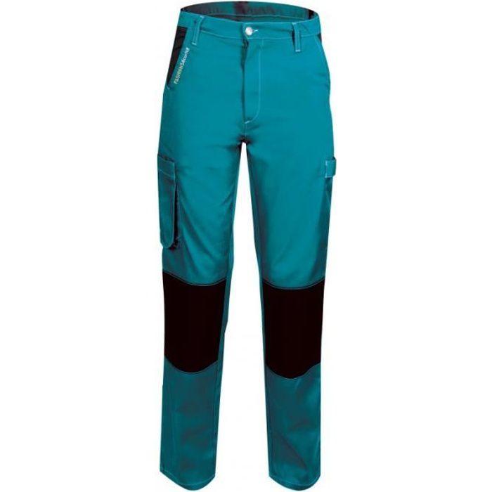 Pantalon de travail femme Turquoise Noir