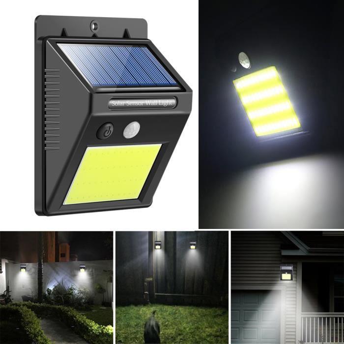 Lampe Solaire Exterieur 48 LED Eclairage Exterieur Solaire Detecteur de Mouvement Lumiere Solaire Etanche Lumiere Solaire pour Jard