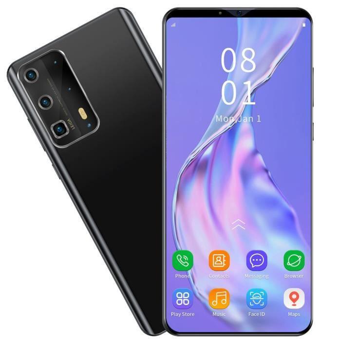 P43PRO 5,8 pouces plein écran 1G + 4G téléphone portable déverrouillage d'empreintes digitales de téléphone intelligent - noir