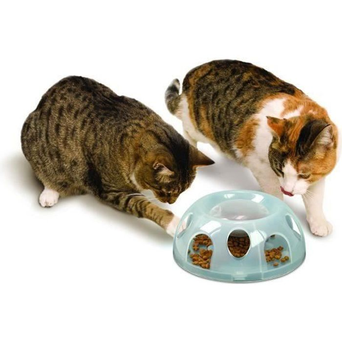 Gamelle anti glouton pour chat Tiger - SCHULZE - matériau:Plastique
