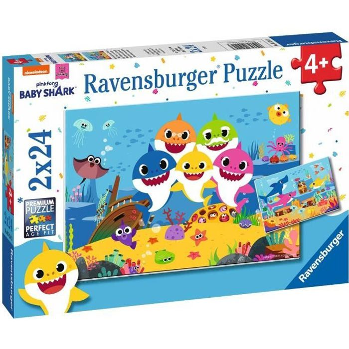 Puzzles 2x24 p - Baby Shark et sa famille