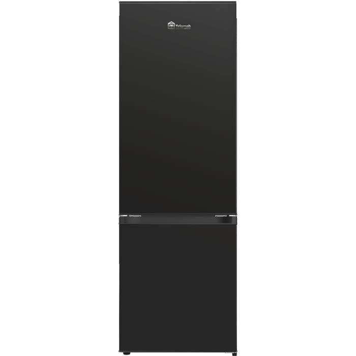 TRIOMPH TSCO281NFBK - Réfrigérateur Congélateur bas - 281L (201 + 80) - No Frost - A+ - L 59.5 x H 185 cm - Noir