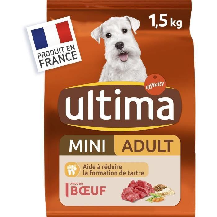 ULTIMA Croquettes au bœuf pour chien mini adulte - 1,5 kg