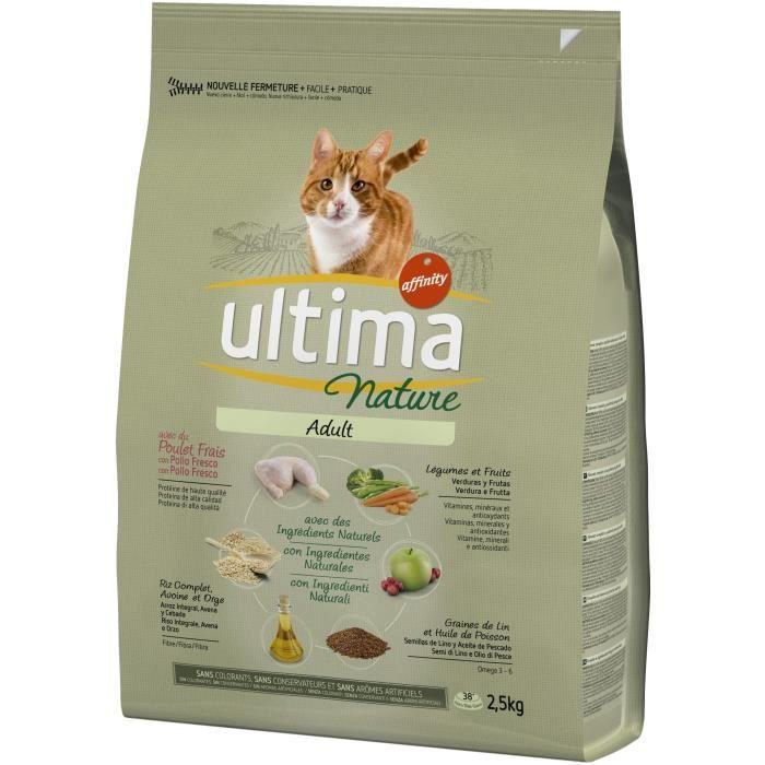 ULTIMA Croquettes au poulet - Pour chat - 2.5 kg