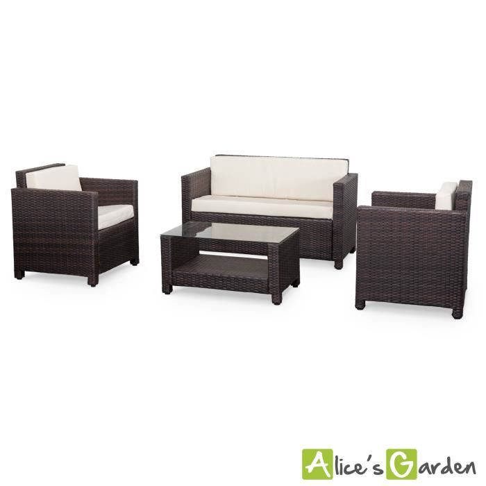 mobilier table salon de jardin r sine tress e 4 places. Black Bedroom Furniture Sets. Home Design Ideas