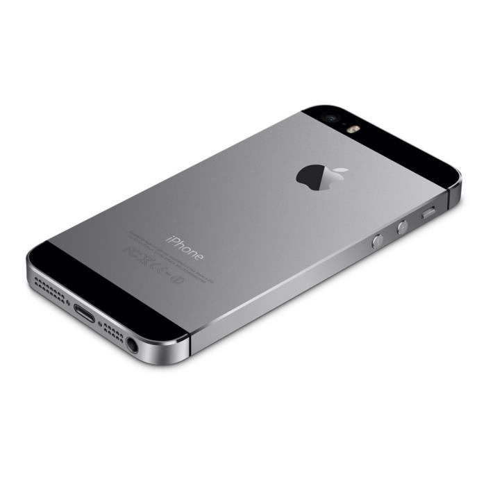 apple iphone 5s reconditionne a neuf 32 gb noir. Black Bedroom Furniture Sets. Home Design Ideas