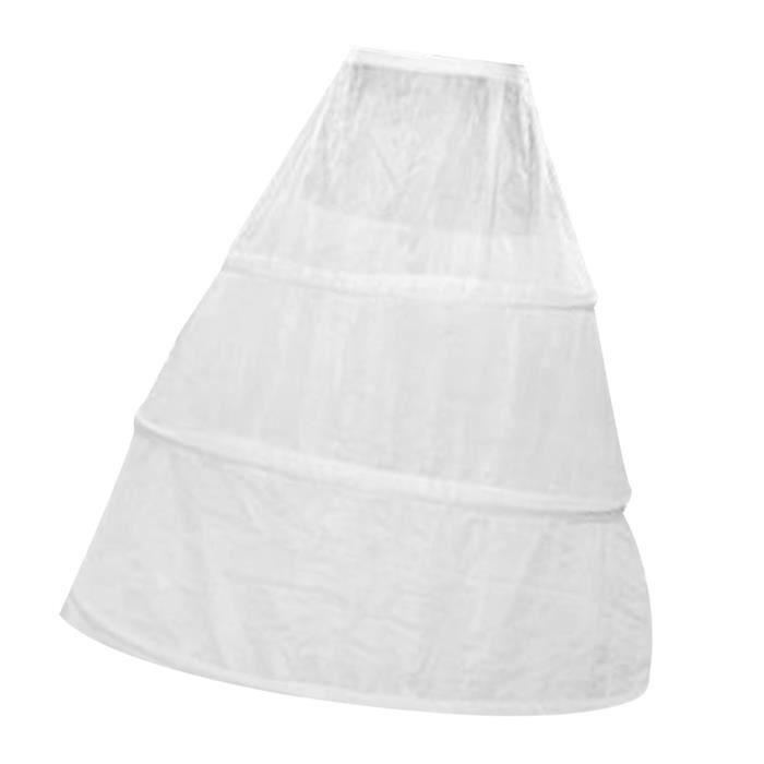 Hoopless longueur genou 3 filets feuillet 1 mariage crinoline jupon jupon