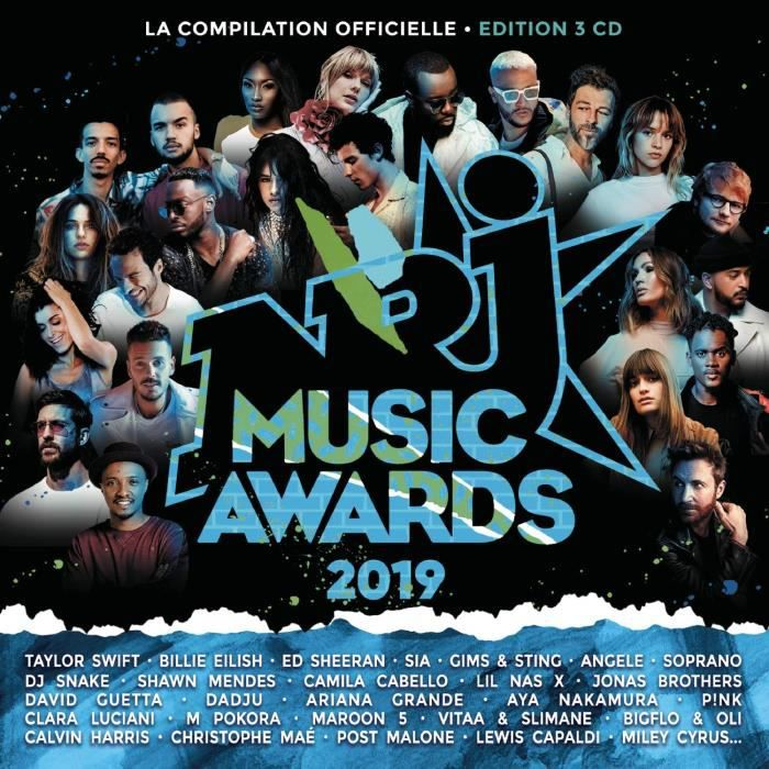 CD COMPILATION Nrj Music Awards 2019 Album 3CD (66 titres)