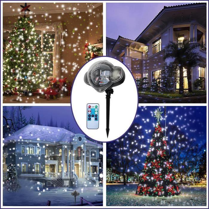 TUBE LUMINEUX , TUBE LED Chutes de neige Flocon de neige de Noël extérieur  Maison projecteur LED Light Project Décor