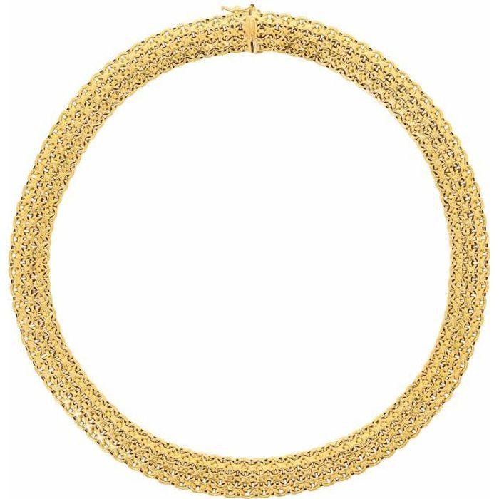 collier fantaisie femme dore