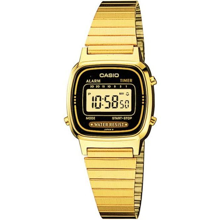 montre casio digital or