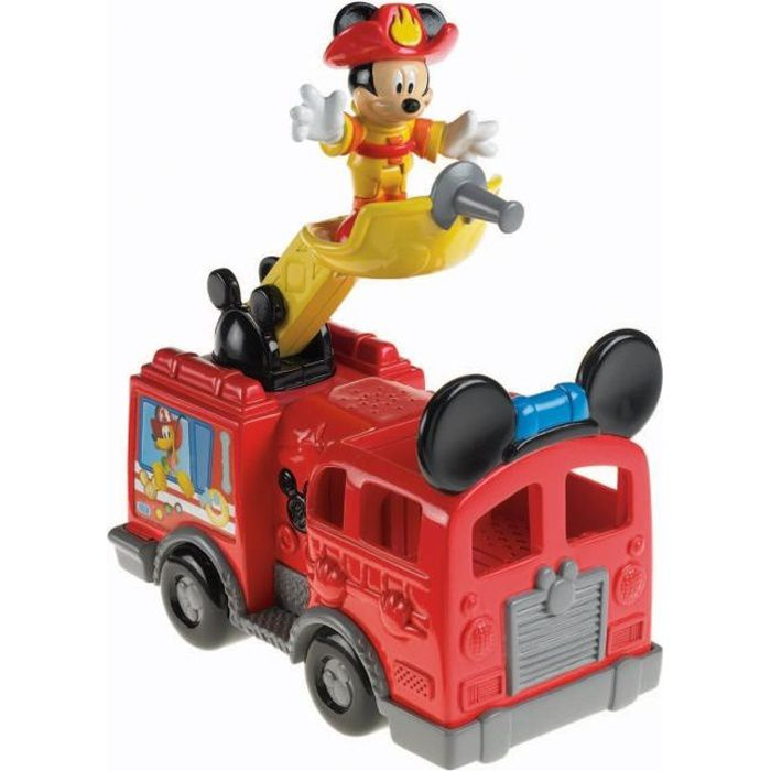 mickey camion de pompiers de fisher price achat vente voiture camion cdiscount. Black Bedroom Furniture Sets. Home Design Ideas