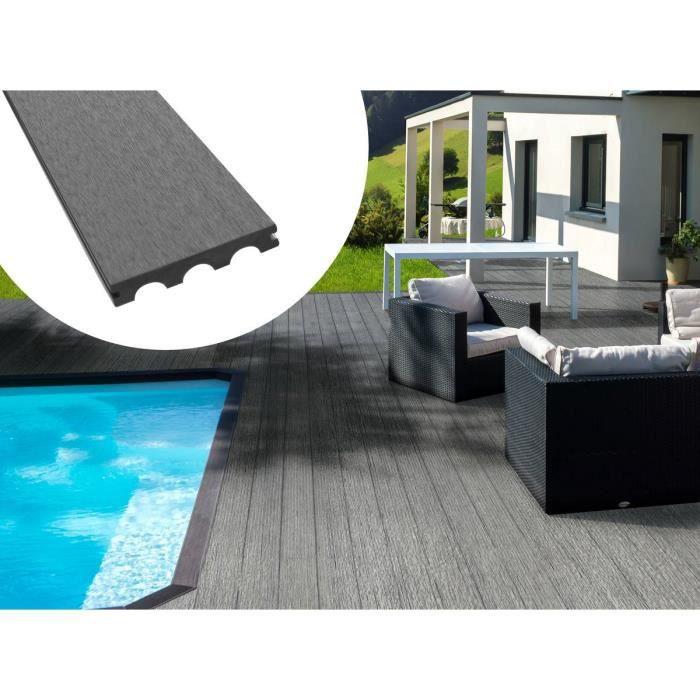 Lame De Terrasse Composite Gris