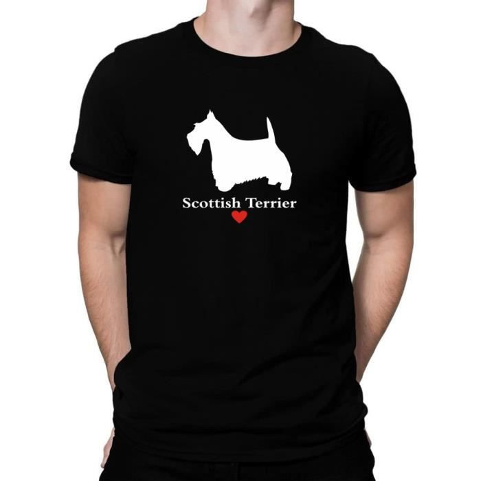 I love coeur Scottish Terrier T-shirt