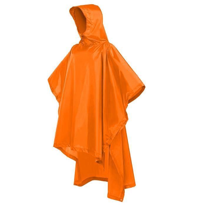 Orange Terra Hiker Poncho Pluie Imperm/éable Cape de Pluie pour Randonn/ée Camping Cyclisme