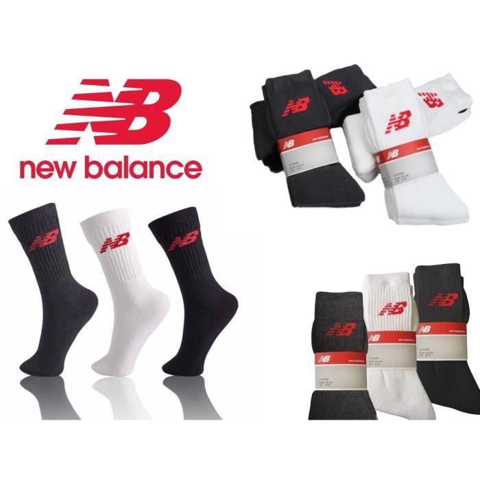 Lot de 3 New Balance pour Homme Performance Socquettes